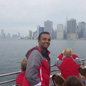 Moesy uitzicht vanaf boot