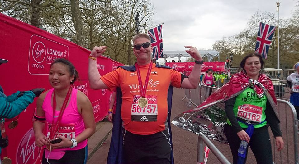 London Marathon Hans